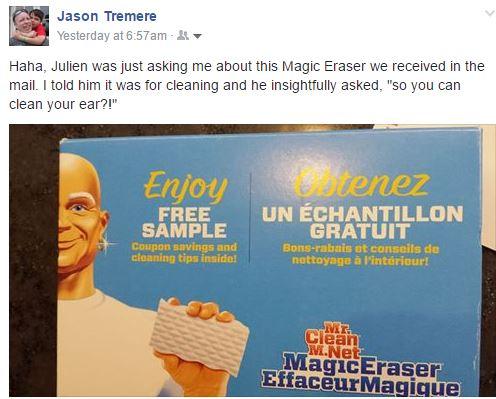 mr clean magic eraser free sample