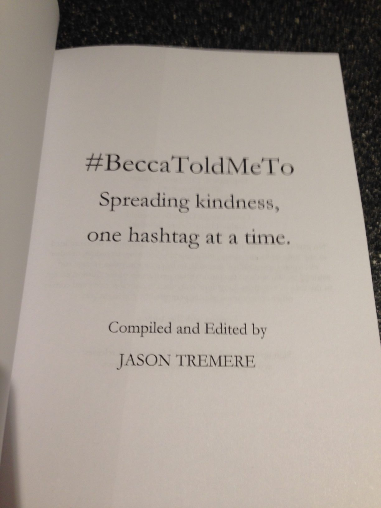 #BeccaToldMeTo physical paperback inside