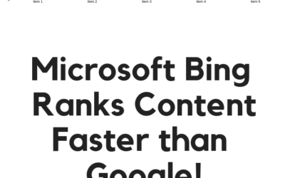 Microsoft Bing Ranks Content Faster Than Google!